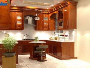 Tủ bếp gỗ gõ đỏ 8