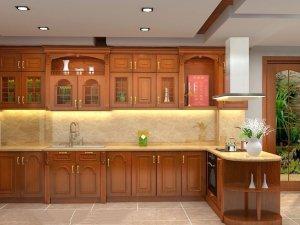 Tủ bếp gỗ Xoan đào 50