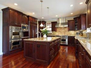 Tủ bếp gỗ gõ đỏ 9