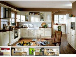 Tủ bếp bán cổ điển 4
