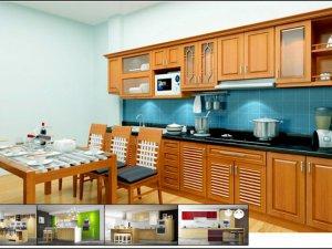 Tủ bếp bán cổ điển 2