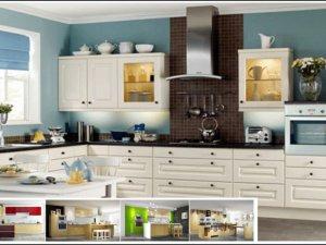 Tủ bếp bán cổ điển 7