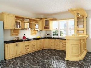 Tủ bếp gỗ sồi Mỹ 7