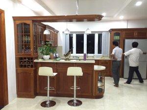 Tủ bếp gỗ gõ đỏ 15