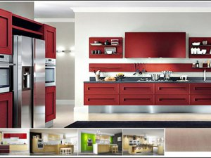 Tủ bếp bán cổ điển 5