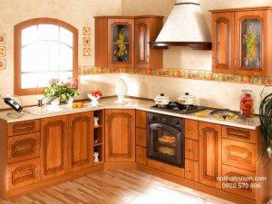 Tủ bếp gỗ Xoan đào 23
