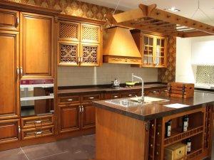 Tủ bếp gỗ sồi Mỹ 13