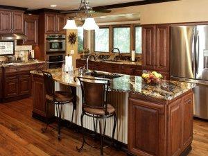 Tủ bếp gỗ gõ đỏ 13
