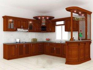 Tủ bếp gỗ Xoan đào 36