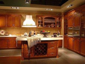 Tủ bếp gỗ gõ đỏ 17
