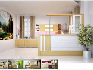 Tủ bếp có Quầy BAR 3
