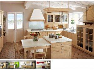 Tủ bếp có quầy đảo 5