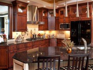 Tủ bếp gỗ gõ đỏ 16