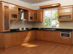 Tủ bếp gỗ gõ đỏ 18