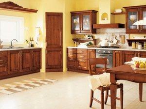 Tủ bếp gỗ gõ đỏ 11