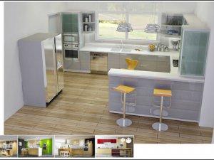 Tủ bếp có Quầy BAR 2