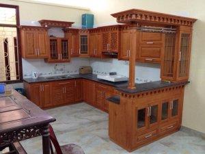 Tủ bếp gỗ Xoan đào 22