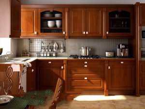 Tủ bếp gỗ Xoan đào 43