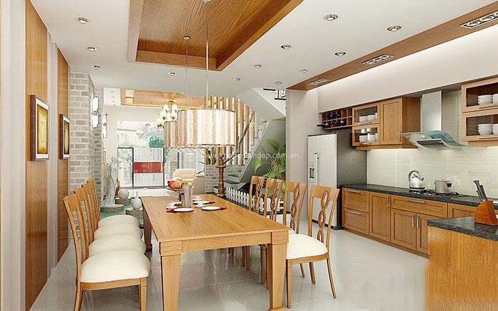 Tủ bếp gỗ sồi Mỹ 14