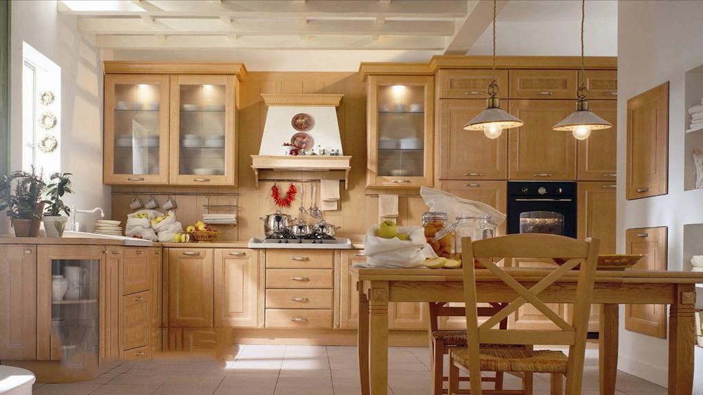 Tủ bếp gỗ sồi Mỹ 12