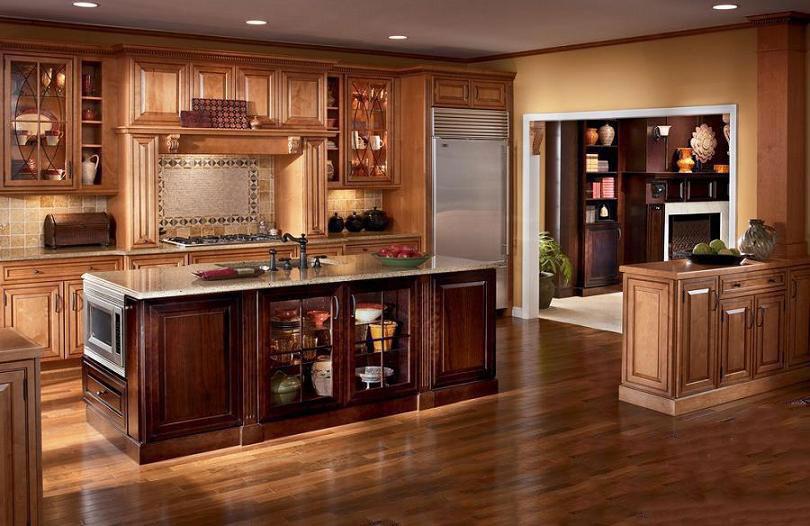 Tủ bếp gỗ sồi Mỹ 11