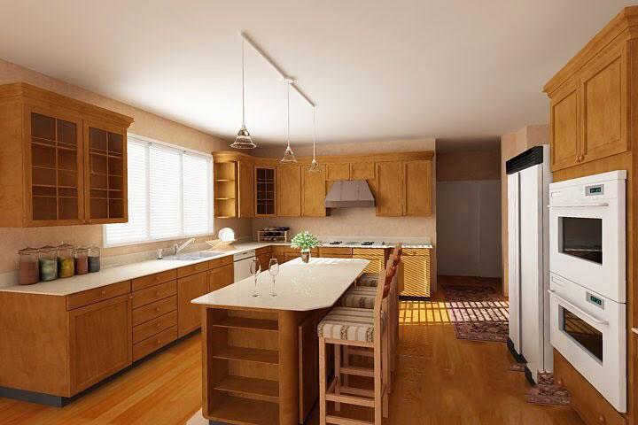 Tủ bếp gỗ sồi Mỹ 17