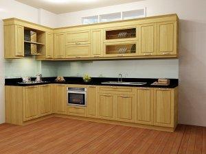 Tủ bếp gỗ sồi Nga 23