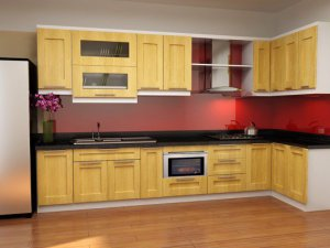 Tủ bếp gỗ sồi Nga 28