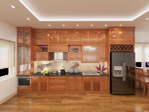 Tủ bếp gỗ Xoan đào 81