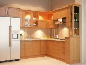 Tủ bếp gỗ sồi Nga 30