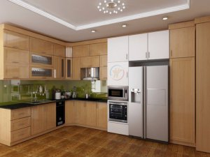 Tủ bếp gỗ sồi Nga 29