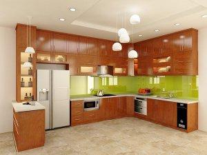 Tủ bếp gỗ Xoan đào 80