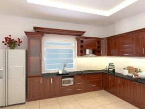 Tủ bếp gỗ Xoan đào 77