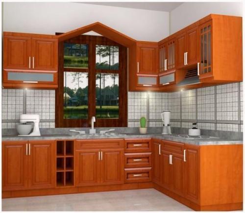 Tủ bếp gỗ Xoan đào 74