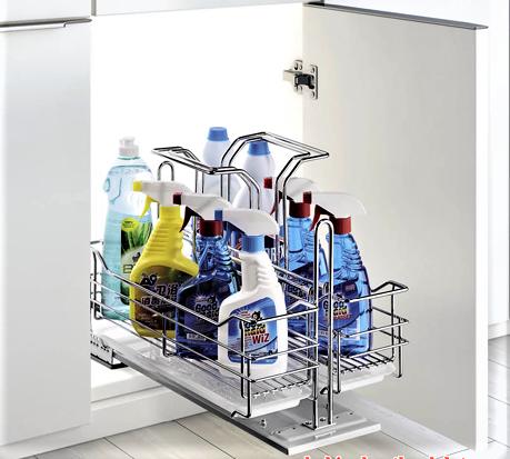 Kệ chất tẩy rửa ray giảm chấn inox 304