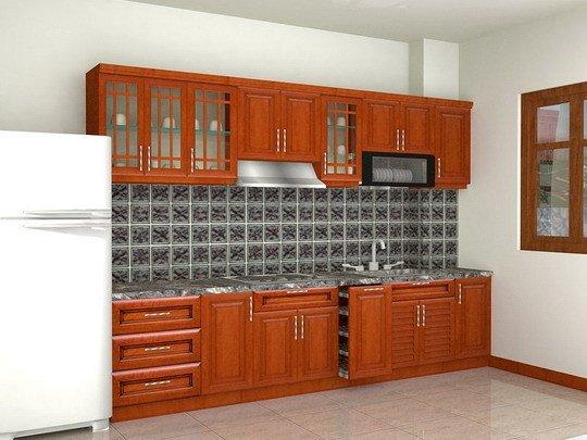 Tủ bếp gỗ Căm xe 22