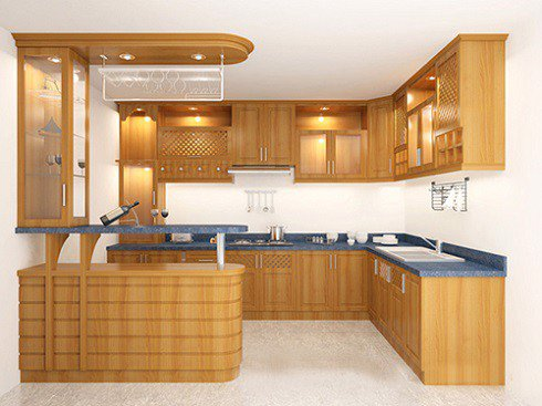 Tủ bếp gỗ Xoan đào 84