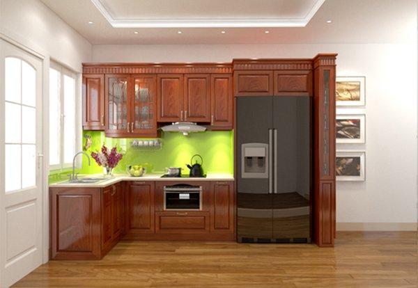 Tủ bếp gỗ Xoan đào 73