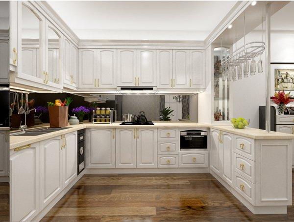 Tủ bếp gỗ sồi Nga 24